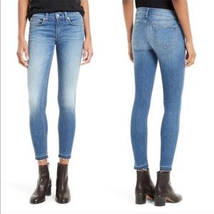 • Rag & Bone • Ankle Skinny Jeans Clean Lily Dale